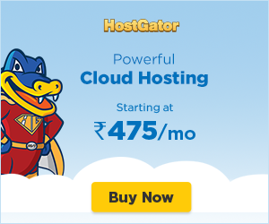 HostGator Powerful Cloud Hosting Starting at Rs.475/month